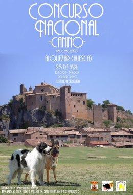 Cartel del Concurso Canino de Alquézar.
