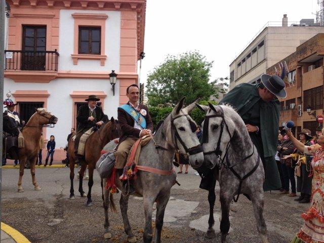 El alcalde en la salida de la procesión