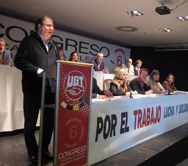 Juan Vicente Herrera interviene en el VI Congreso de UGT de CyL