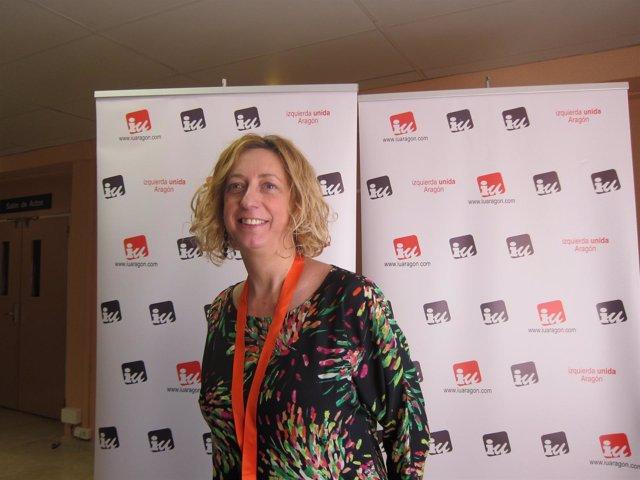 La presidenta de la Mesa de la Asamblea de IU-Aragón, Patricia Luquín.
