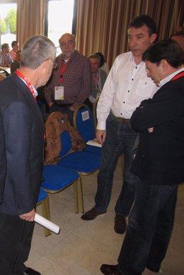 Los secretarios generales de UGT, Agustín Prieto, y CC.OO, Ángel Hernández