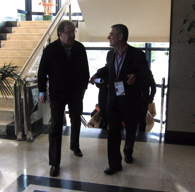 Herrera y Agustín Prieto llegan al VI Congreso de UGT CyL