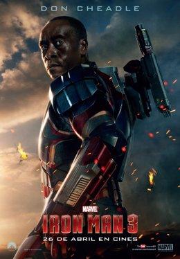 Don Cheadle en Iron Man 3