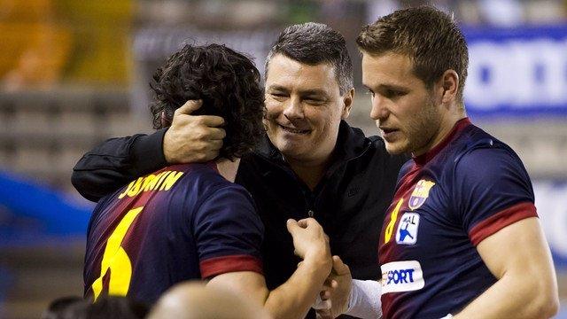El FC Barcelona Intersport celebra el pase a la Final Four