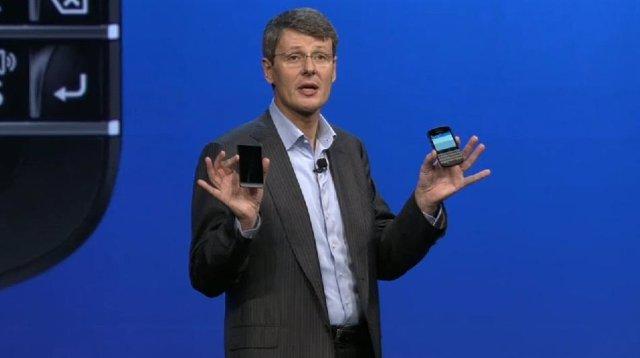 El CEO de BlackBerry, Thorsten Heins