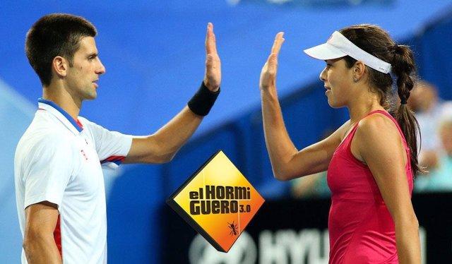 Novak Djokovic y Ana Ivanovic, 'El Hormiguero'