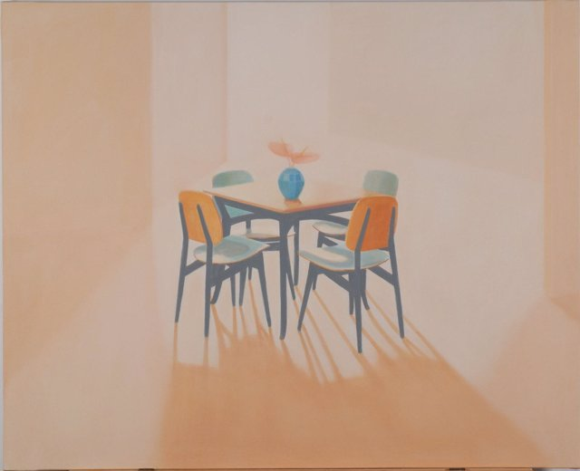 Una de las obras de Teresa  Moro, presente en la muestra