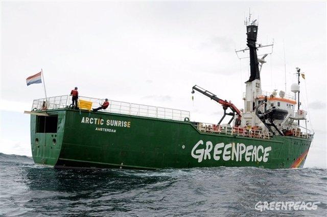 El Arctic Sunrise de Greenpeace