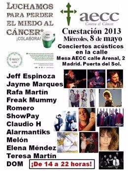 Cartel de los conciertos en favor de la AECC