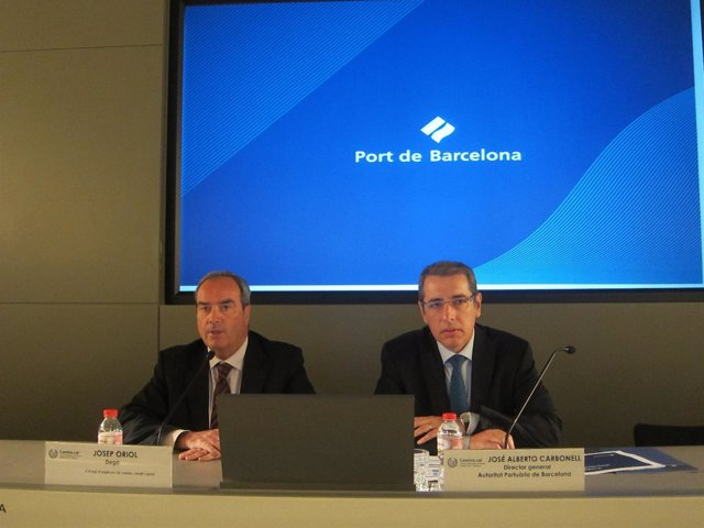 J.Oriol (Colegio Ingenieros Catalunya) y J.A.Carbonell (Pto Barcelona)