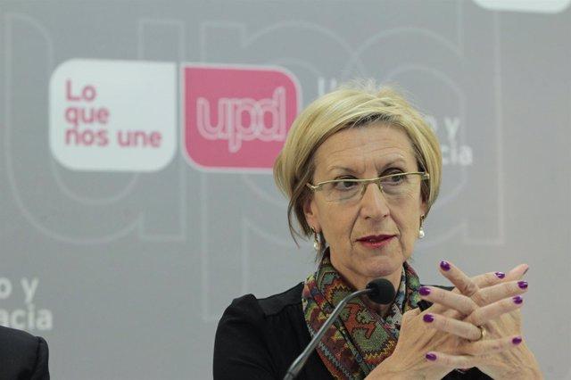 Rosa Díez, portavoz de UPyD
