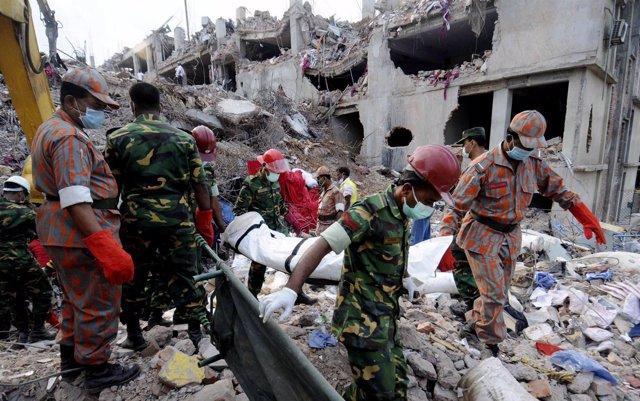 Edificio derrumbado en Bangladesh