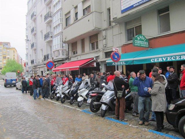 Trabajadores Sniace en Santander