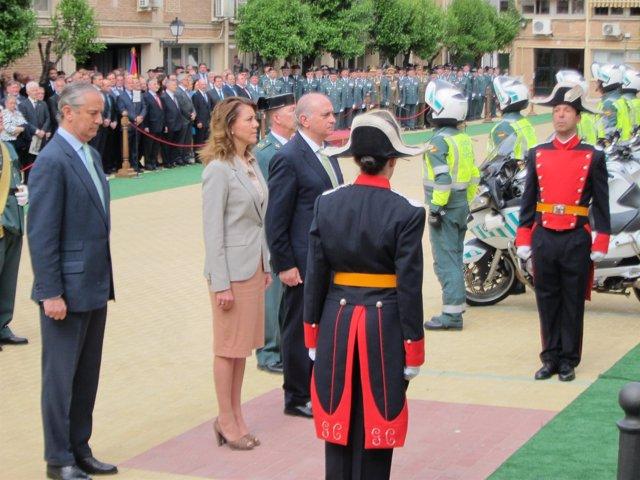 Cospedal y el ministro de Interior, Jorge Fernández Díaz