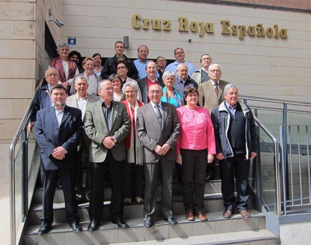 Bellido y Varas con los presidentes de las casas regionales en Castilla y León