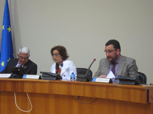 Norberto Uzal en comisión parlamentaria.