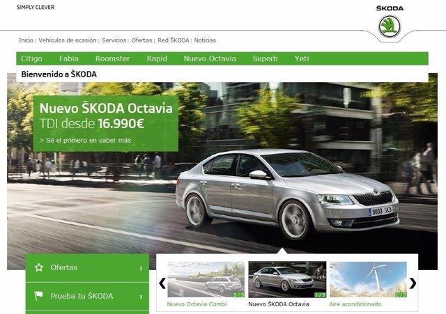 Nueva web de Skoda