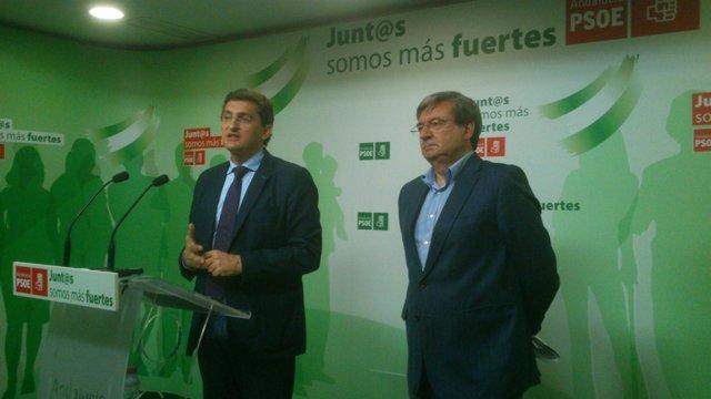 José Luis Sánchez Teruel y Fernando Martínez (PSOE)
