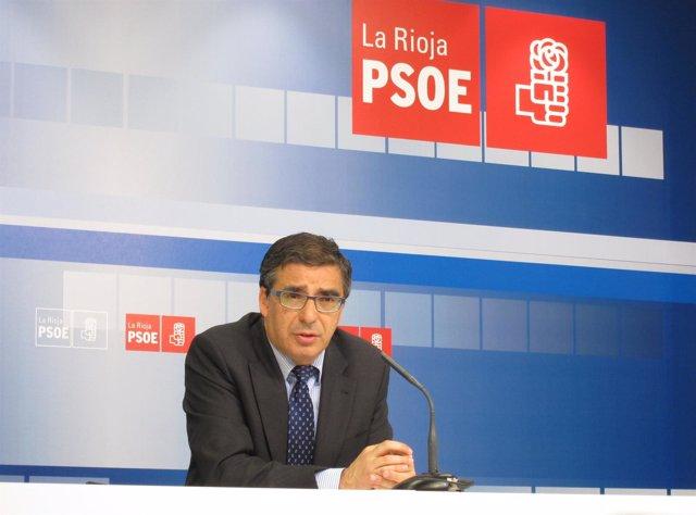 El Portavoz Del Grupo Parlamentario Del PSOE De La Rioja, Pablo Rubio