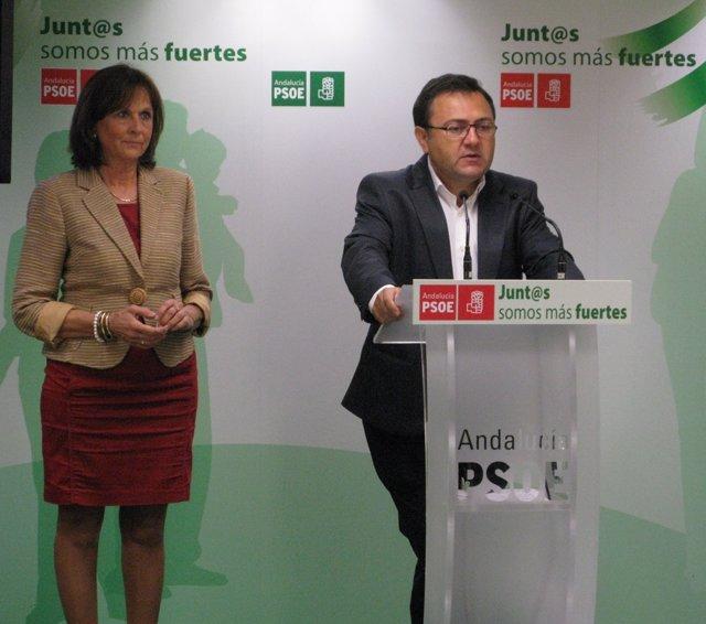 Remedios Martel y Miguel Ángel Heredia PSOE