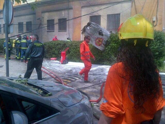 Foto del accidente de Cuatro Vientos