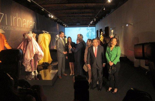 Los Príncipes de Asturias visitan las 'Santas de Zurbarán'