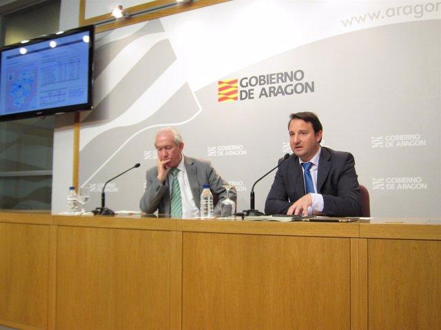 Bono y García han presentado este martes los 'datos básicos de Aragón'
