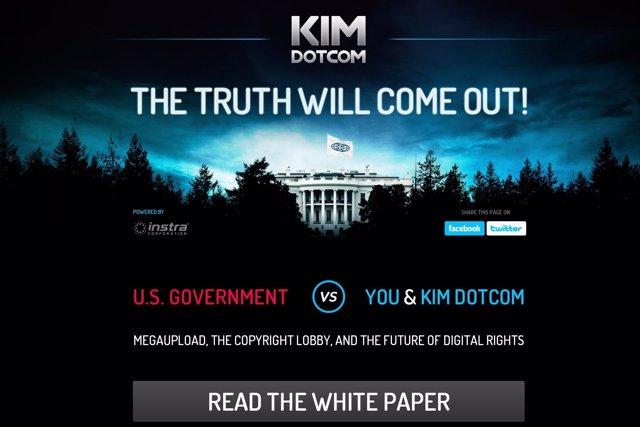 Kim Dotcom publica el libro blanco The Truth will come out