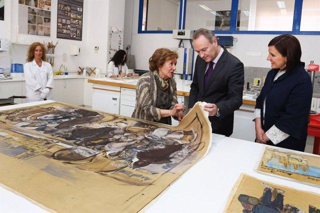 El President de la Generalitat, Alberto Fabra, visita el Ivacor