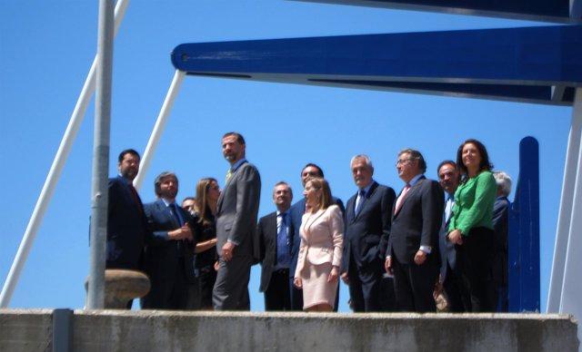 Los Príncipes de Asturias visitan la nueva esclusa de Sevilla
