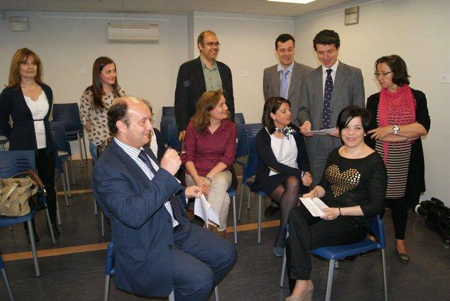 Representantes municipales, de Vodafone y de Espávila
