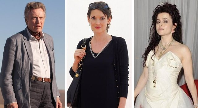 Montaje de Christopher Walken, Winona Ryder y Helena Bonham Carter