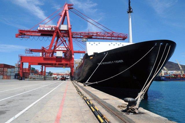 Segunda Descarga De Ayuda Humanitaria De USAID En El Puerto De La Luz: