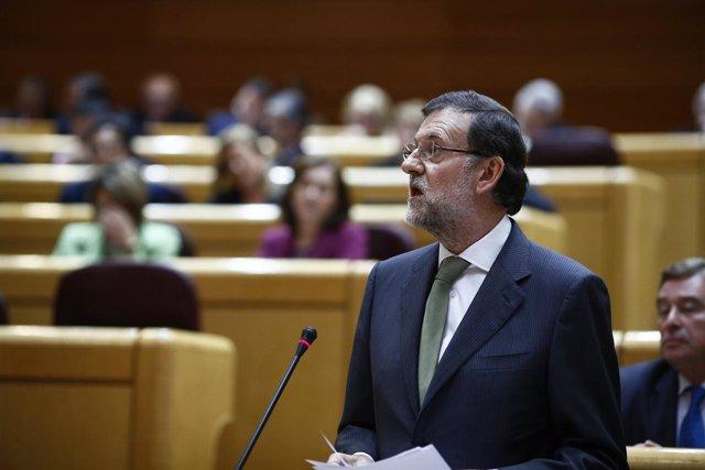 Mariano Rajoy en el Pleno del Senado