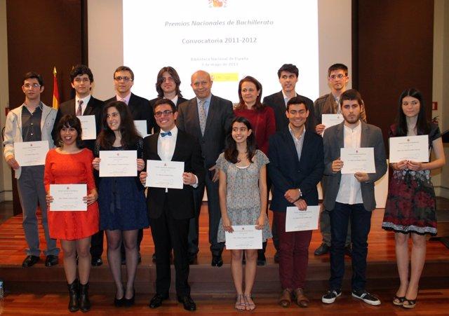 Premio Nacional de Bachillerato. Ganadores con Wert