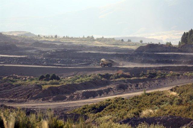En la imagen, una de las explotaciones mineras de la provincia de León.