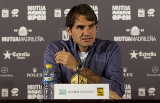 Roger Federer en el Mutua Madrid Open