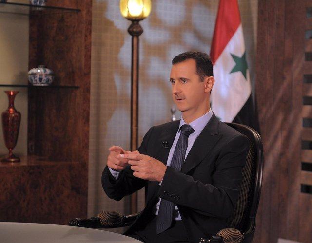 El Presidente Sirio, Al Assad, En Una Entrevista En Televisión En Agosto De 2011