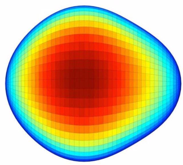 Núcleo de átomo en forma de pera