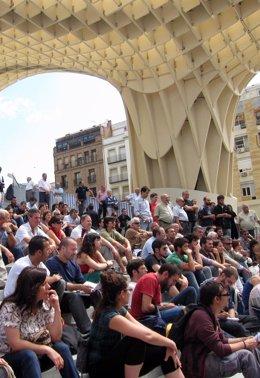 Manifestación 15M En Plaza De La Encarnación