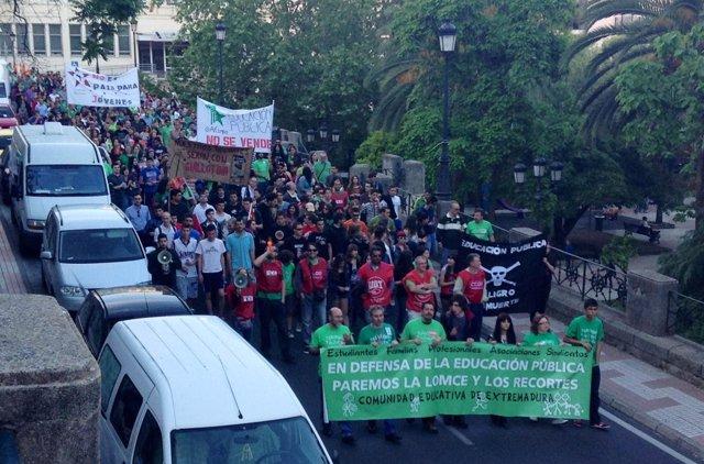 Protesta Cáceres, huelga