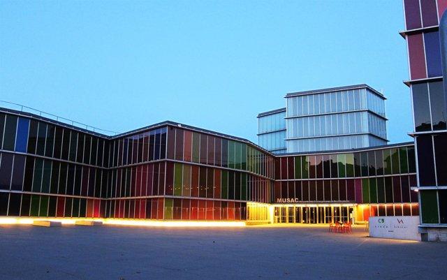 Fachada del Museo de Arte Contemporáneo de Castilla y León.