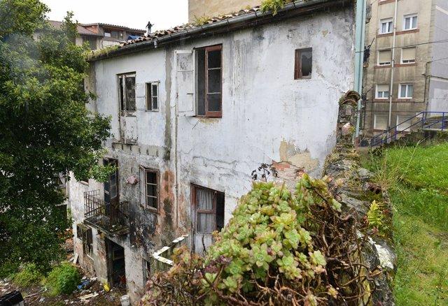 Edificio en ruina en Santander