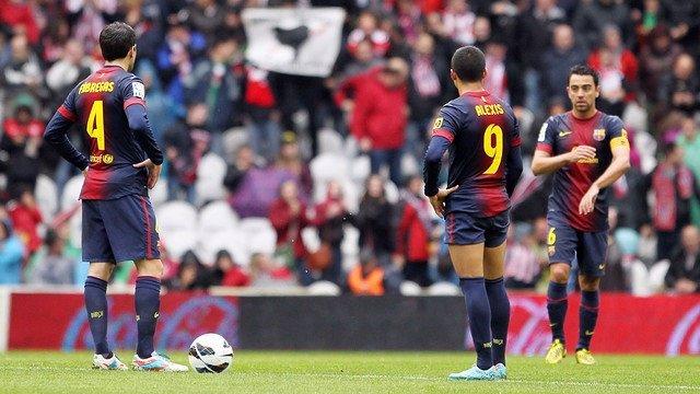 El Barça empata en San Mamés