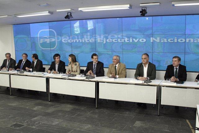 Comité ejecutivo, PP, Génova, Mariano Rajoy, Arenas, Pons, Cospedal, Floriano