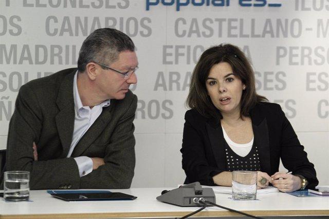 Comité ejecutivo, PP, Génova, Soraya Sáez de Santamaría, Gallardón