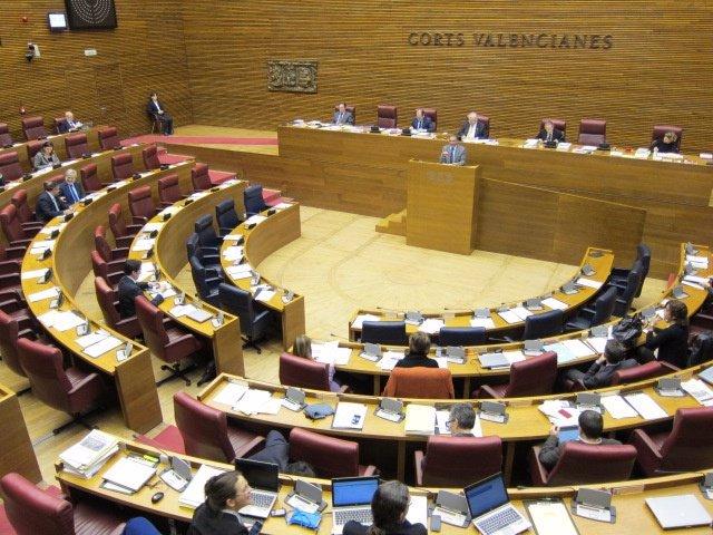 Imagen Del Hemiciclo De Las Corts En El Inicio Del Debate Vespertino.