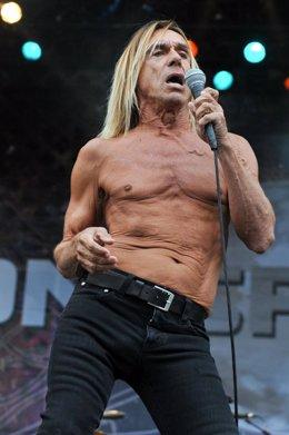 El cantante Iggy Pop, de The Stooges