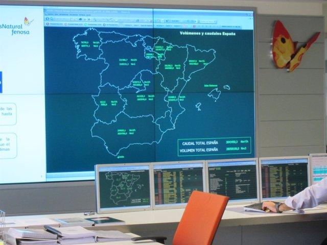 Centro de control de Gas Natural Fenosa
