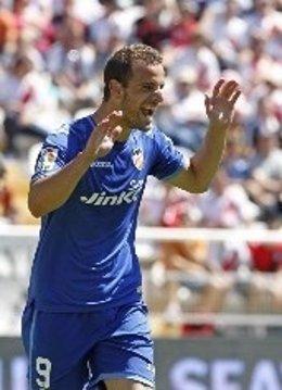 El jugador del Valencia Roberto Soldado